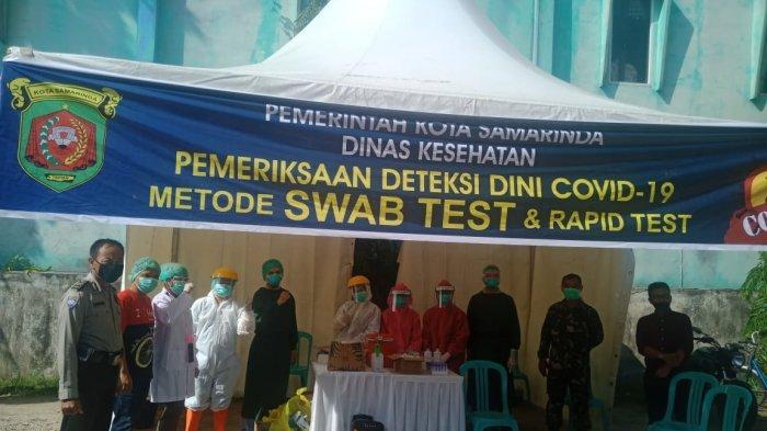 Pelaksanaan Rapid Test dan Swab Test Massl di Kelurahan Loa Janan Ilir, Diikuti 79 Orang