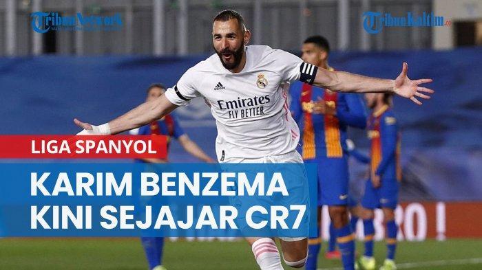 NEWS VIDEO Cetak Gol ke Gawang Barcelona, Karim Benzema Sejajar CR7 dan 2 Eks Bomber Real Madrid