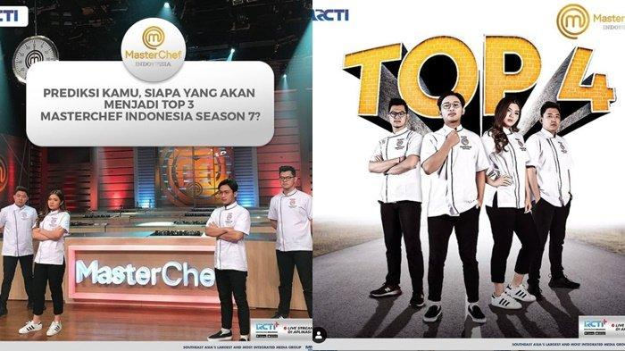 Clava Tereliminasi, Top 4 MasterChef Indonesia Season 7, Faiz, Nindy, Jerry, & Audrey Berebut Top 3