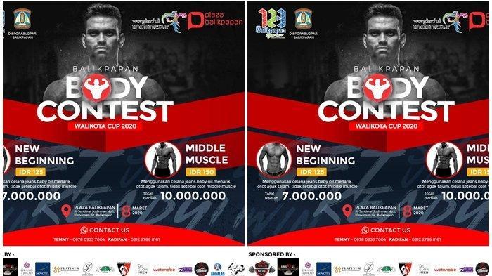 Body Contest Walikota Cup 2020, Event Pertama Kalinya dalam HUT Kota Balikpapan, Jadwal 8 Maret Ini