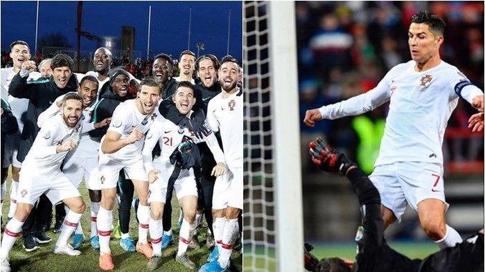 Kalahkan Luksemburg, Gol ke-99 Cristiano Ronaldo Bawa Portugal Lolos ke Euro 2020