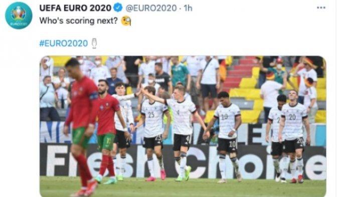 Cristiano Ronaldo Tertunduk, Portugal Dibungkam Jerman, Siapa di Puncak Klasemen Grup F Euro 2020?