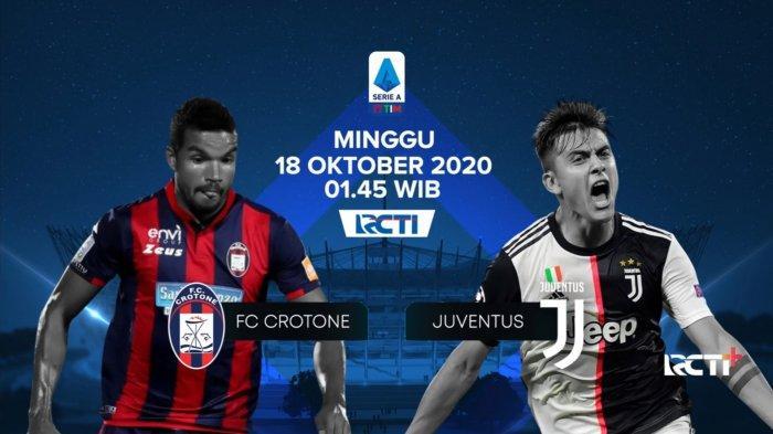 Jadwal Liga Italia: Link Live Streaming RCTI Plus, Crotone vs Juventus, Pirlo Stres Jadi Pelatih