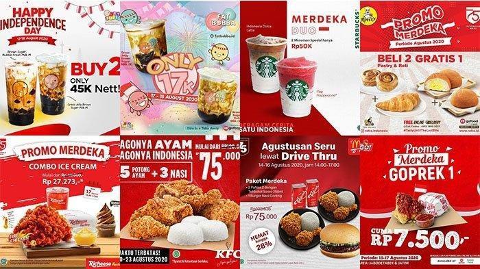 Daftar Diskon Promo Makanan dan Minuman 17 Agustus 2020, KFC, Starbucks, McD, Roti O, PHD, J.CO dll