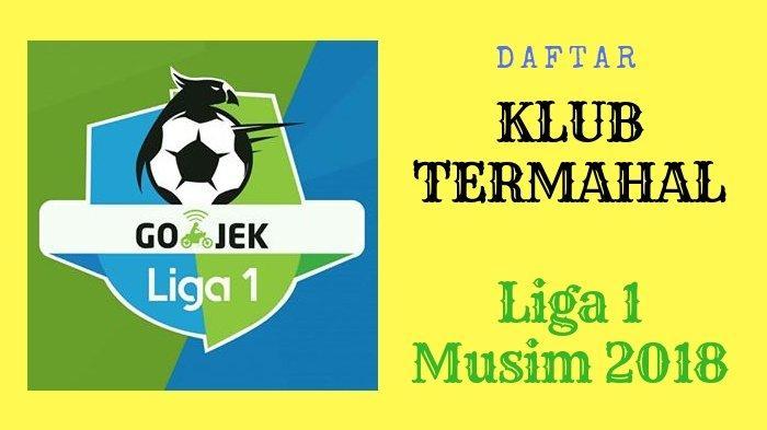 Daftar Klub Termahal Liga 1 2018, Ada Mitra Kukar dan Borneo FC, Persib Bandung tak Masuk 5 Besar