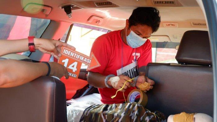 Rekonstruksi Pembunuhan di Kolam Buaya Mayang Mangurai Berau, Pelaku Peragakan 25 Adegan