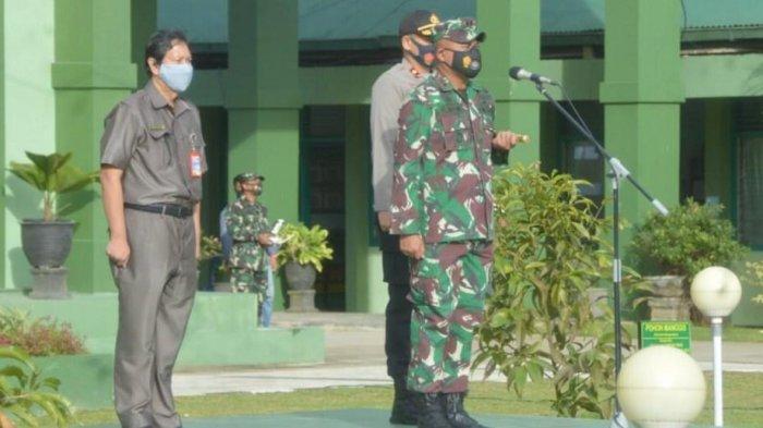Kodim 0906/Tenggarong Gelar Apel Sosialisasi PPKM di Kukar