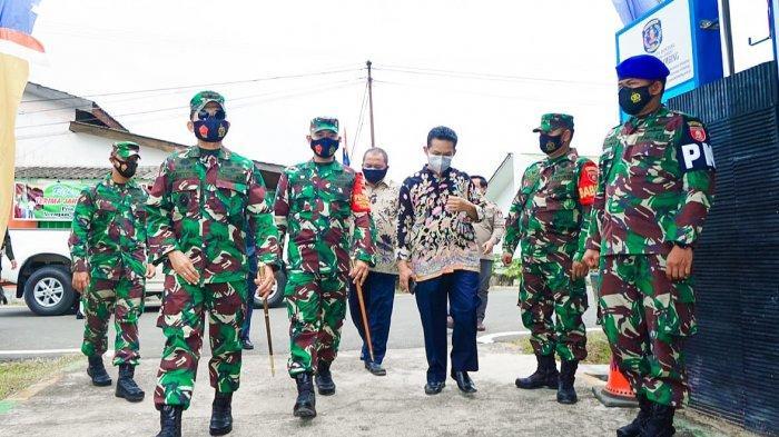 Tinjau Posko Covid-19 Tingkat Kelurahan di Wilayah Kodim 0908/Bontang, Danrem Minta Tertib Prokes