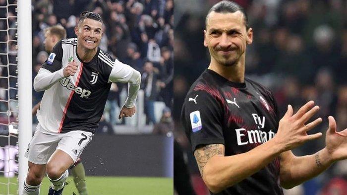 Hasil Liga Italia, Debut Zlatan Ibrahimovic AC Milan Tanpa Gol hingga Hattrick Cristiano Ronaldo
