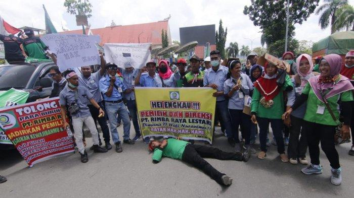 BREAKING NEWS Upah Kerap Telat Hingga Iuran BPJS Tak Dibayar, Buruh Pabrik Plywood Demonstrasi