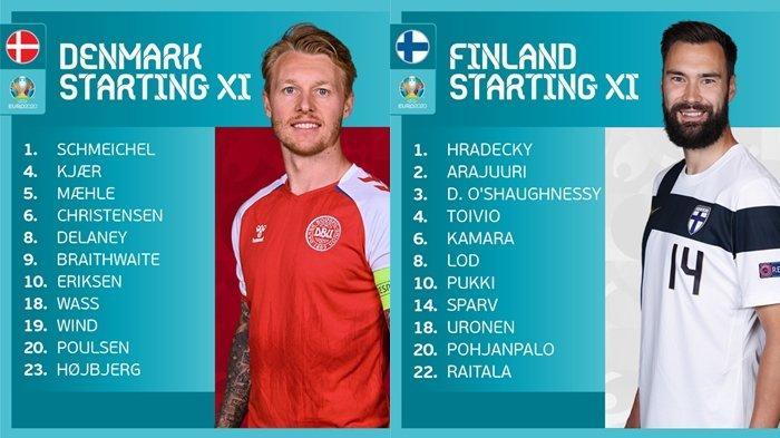 BERLANGSUNG Live Streaming Euro 2020, Denmark vs Finlandia, Akses Link Nonton RCTI & Mola TV