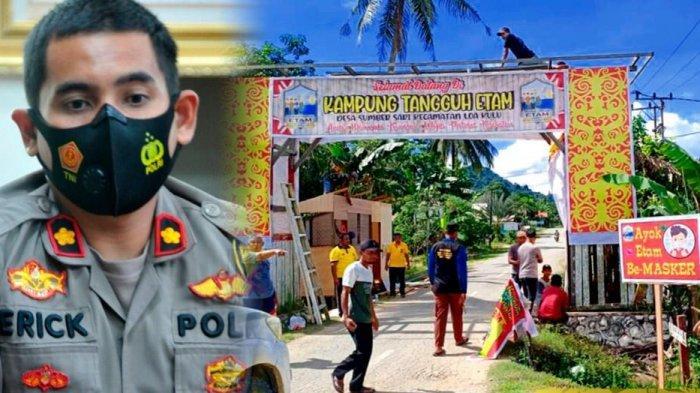 Kampung Tangguh Polres Kukar ampung Etam Desa Sumber Sari Juara I, Wakili Polda Kaltim
