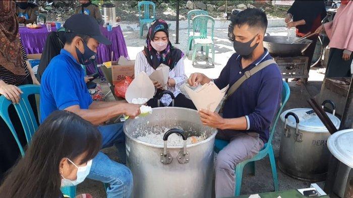 Dapur Umum di Gang Seratai Paser, Penuhi Kebutuhan 92 Warga yang Isolasi Mandiri Covid-19