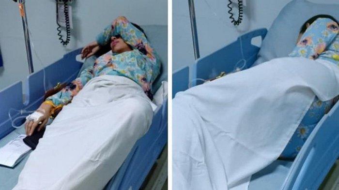 Terbaring di Rumah Sakit Diduga Alami Keguguran, Dewi Sanca: Allah Lebih Sayank Kamu My Baby