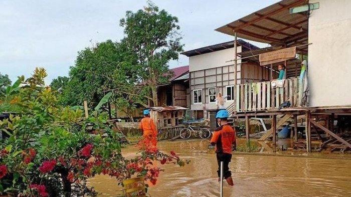 3 Kelurahan Zona Merah Covid-19 di Bontang Terendam Banjir, Warga Isolasi Mandiri jadi Perhatian