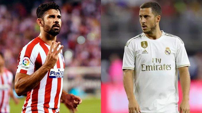 Atletico Madrid vs Real Madrid, Reuni Sahabat Lama Eks Chelsea, Diego Costa dan Eden Hazard