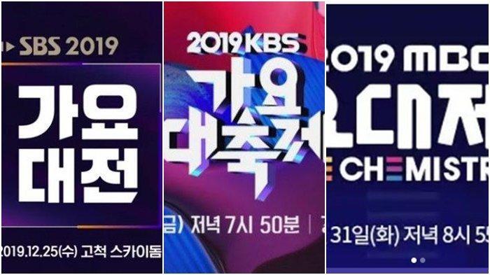 Dimulai 25 Desember 2019, Berikut Jadwal SBS Gayo Daejun, KBS Gayo Daechukje dan MBC Gayo Daejejeon