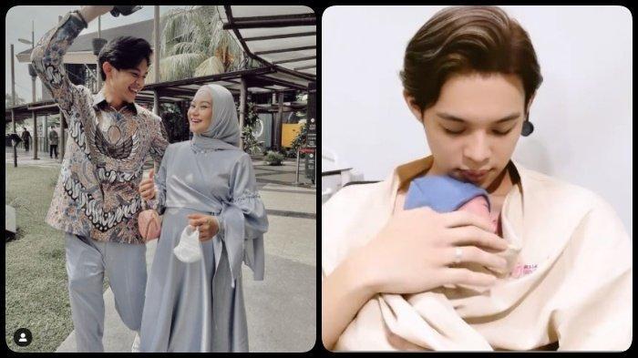 Dinda Hauw Melahirkan, Intip Wajah Ganteng Baby Arshaka saat Digendong Rey Mbayang