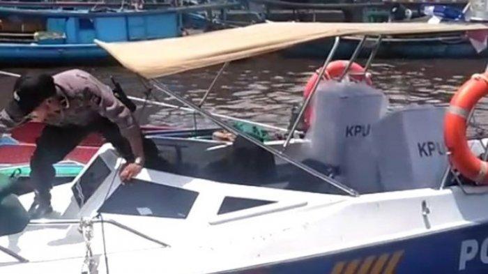 Sebagian Besar Logistik Pemilu di Kubu Raya Kalbar Sudah di Kecamatan, 95 Kotak Suara Lewat Sungai