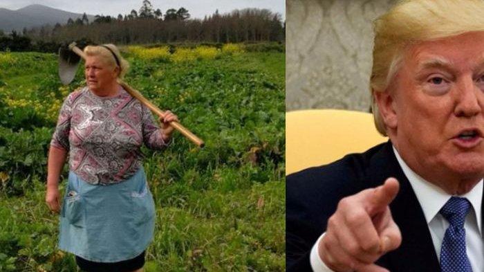 Mendadak Terkenal, Wajah Petani Wanita Ini Dibilang Mirip Donald Trump!