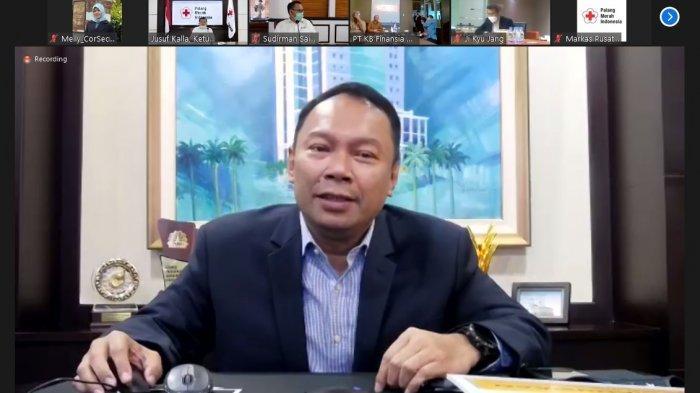 Rivan A Purwantono selaku President Director Bank Bukopin hadir dalam penyerahkan bantuan dari KB Financial Grup terhadap masyarakat Indonesia yang terdampak bencana gempa bumi di Sulawesi Barat.