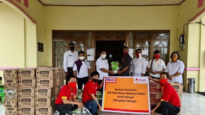Uang Receh Kembalian Belanja di Alfamart Disalurkan Buat Korban Banjir di Katingan Kalimantan Tengah