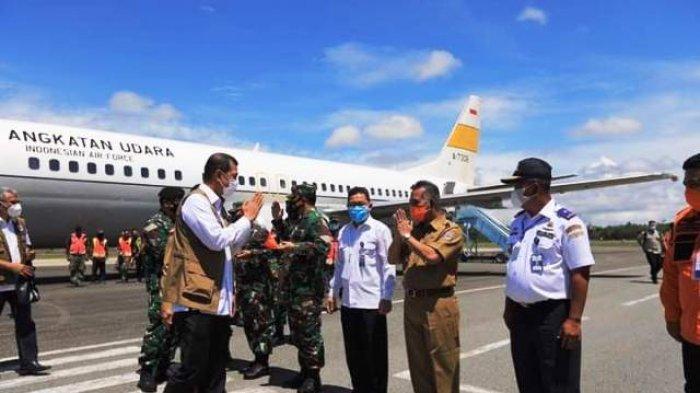 Walikota Khairul Jemput Doni Monardo di Bandara Juwata Tarakan