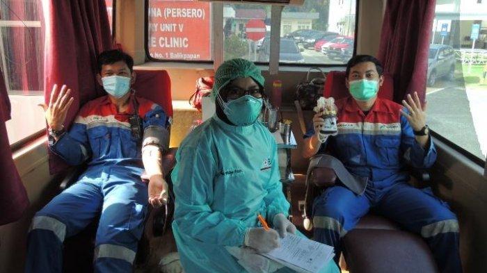 Pertamina RU Balikpapan Laksanakan Donor Darah dan VCT HIV/AIDS