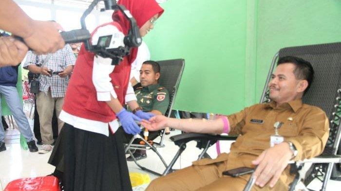 Kodam VI/Mulawarman Gelar Bakti Sosial di PPU, Sekda Tohar Ikut Donor Darah