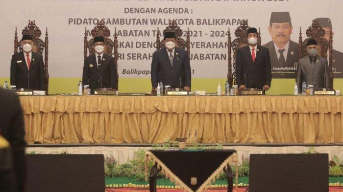 DPRD Balikpapan Gelar Paripurna Serah Terima Jabatan, Abdulloh: Tugas Walikota Lama Sudah Tuntas