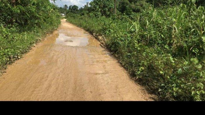 Kondisi jalandari Desa Loh Sumber ke Desa Sungai Payang Kecamatan Loa Kulu Kutai Kartanegara masih sangat memprihatinkan.TRIBUNKALTIM.CO, ARIS JONI