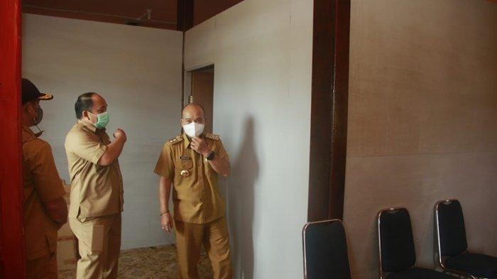 Semangati Para Pegawai pasca Kebakaran, Wabup Mahulu Kunjungi Kantor Baru Dinas PUPR