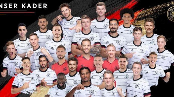 LENGKAP Foto Pemain Jerman di Euro 2021, Prediksi Skor Jerman vs Inggris, Formasi dan Susunan Pemain