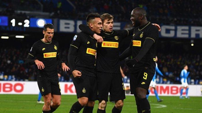 Hasil Akhir Liga Italia, Romelu Lukaku dan Lautaro Martinez Bawa Inter Milan Tumbangkan Napoli