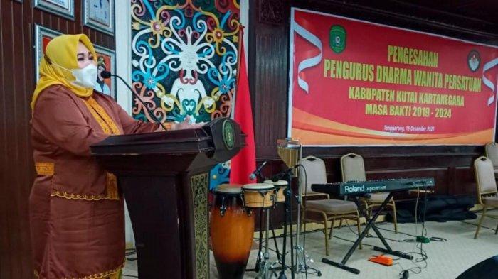 Gelar HUT ke-21 DWP Kukar, Maslianawati: Harus Bisa Dukung Program Pemkab Kutai Kartanegara