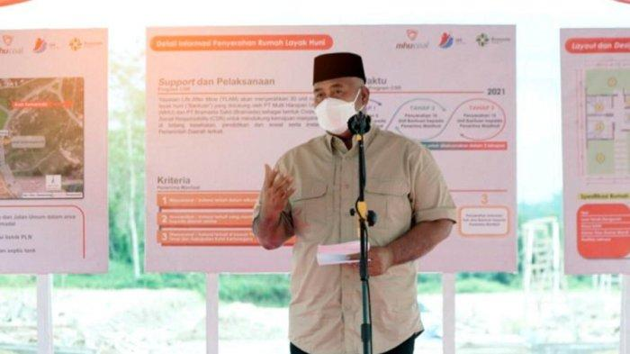 Bupati Kukar Edi Damansyah Apresiasi Rumah Layak Huni Program CSR PT MHU