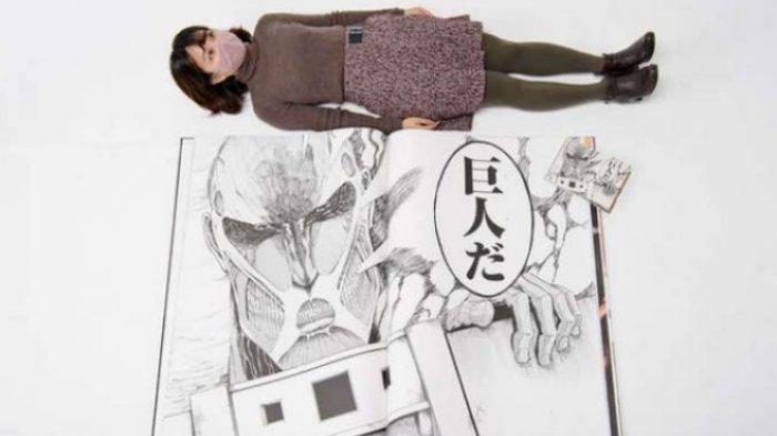 EDISI TERBATAS, Perayaan 1 Dekade, Manga Attack on Titan Bakal Dicetak Seukuran Tangan Titan Eren