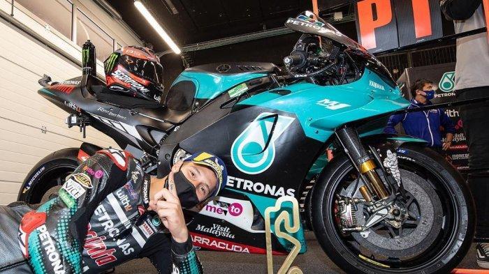 Pembalap Petronas Yamaha Fabio Quartararo Memenangi MotoGP Catalunya