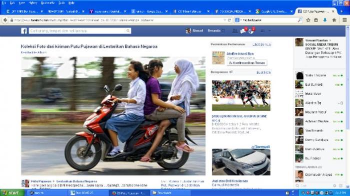 Foto Aksi Gila Tiga Cewek Bonceng Gaya Seks Beredar di Facebook
