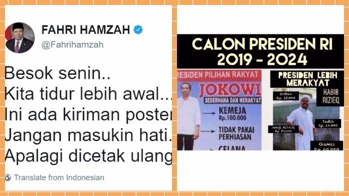 Berkicau Bandingkan Kesederhanaan Jokowi dan Rizieq Shihab, Fahri Hamzah Tuai Kecaman
