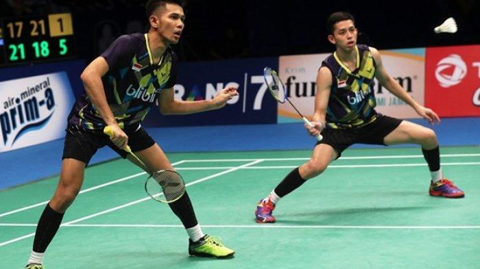 Hasil Malaysia Open 2019 - Fajar/Rian Kalahkan Kevin/Marcus, Kemenangan Pertama Fajri atas Minions