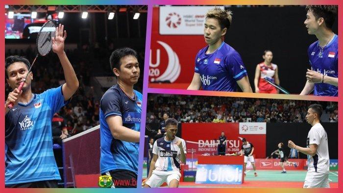 Fajri Trending Topic, Sejarah Indonesia Tempatkan 3 Ganda Putra di Semifinal Indonesia Masters 2020