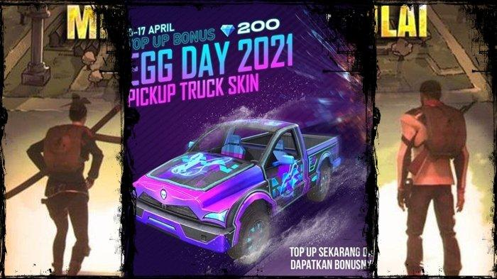 UPDATE Kode Redeem FF 10 April 2021, Buruan Top Up Bonus, Dapatkan Skin Pickup Egg Day, Gratis