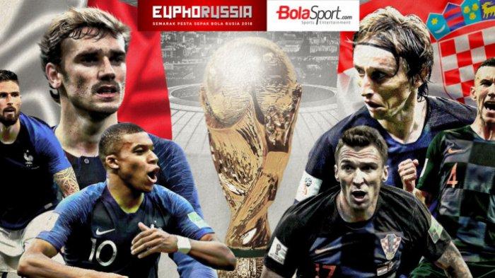 Final Piala Dunia 2018 - Buah Teknologi VAR, Griezmann Bawa Perancis Unggul Lewat Titik Putih