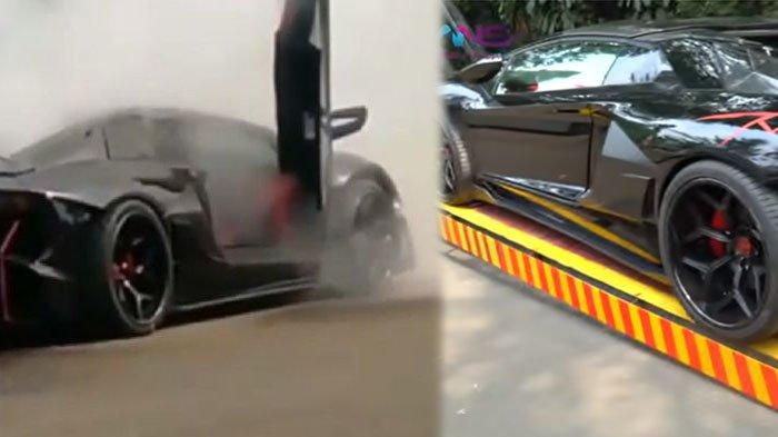 Foto Lamborghini Raffi Ahmad, Irwansyah Sebut Suami Nagita Slavina Syok Mobil Batman Terbakar