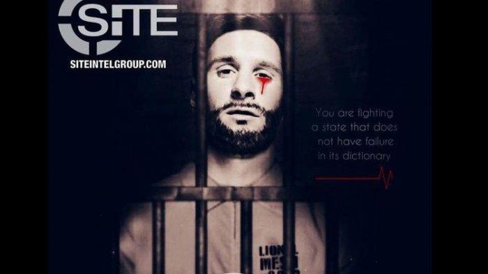 ISIS Pakai Foto Lionel Messi Menangis Darah untuk Ancam Piala Dunia 2018 di Rusia