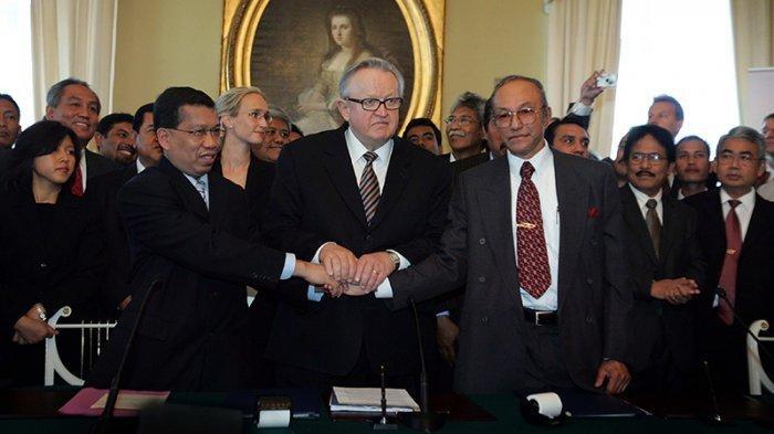 SEJARAH HARI INI: GAM dan RI Berdamai Lewat Perjanjian Helsinki, Perundingan Sampai 5 Putaran