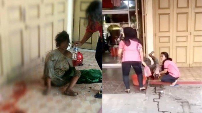 Viral Video Wanita Gangguan Jiwa Ini Melahirkan Bayi Perempuan Cantik di Depan Ruko Kosong