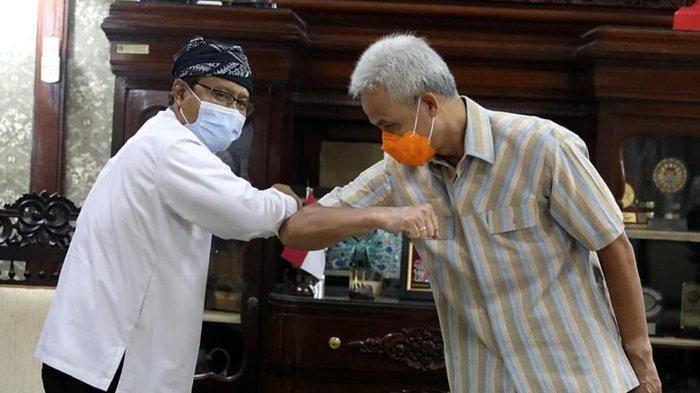 Wali Kota Pasuruan, Saifullah Yusuf atau akrab disapa Gus Ipul saat bertemu dengan Gubernur Jawa Tengah, Ganjar Pranowo.