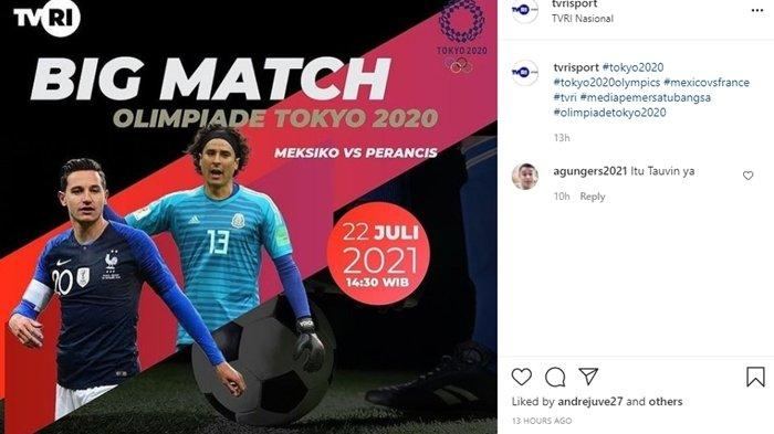 Prediksi dan Jam Tayang Sepakbola Olimpiade Tokyo 2021: Meksiko vs Prancis, Live TVRI & TV Online